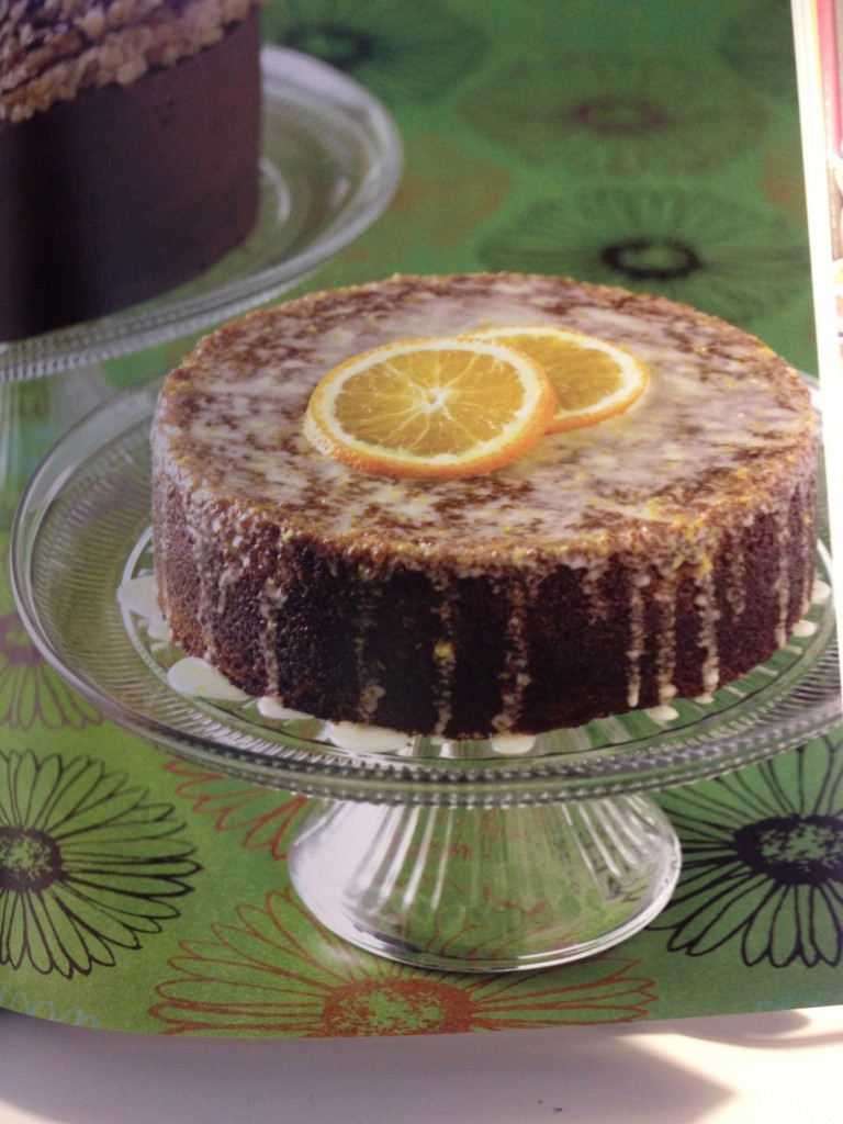Alice's Tea Cup Orange Vegan Cake as shown in their cookbook