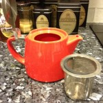 FORLIFE 18 ounce stackable red teapot with infuser